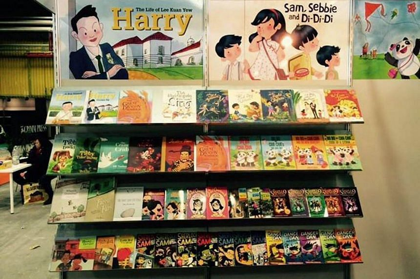 File photo of Epigram Books on display at a book fair. Epigram Books has published more than 100 Singapore children's and young adult titles.