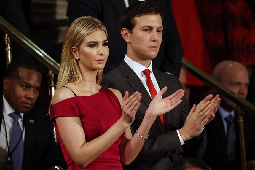 Ivanka Trump and husband Jared Kushner at President Donald Trump's address to a joint session of Congress, at the Capitol in Washington on Feb 28, 2017.