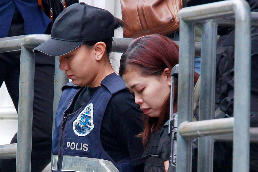 Indonesian Siti Aishah leaves a Sepang court after she was charged with the murder of North Korea Kim Jong Nam, in Malaysia on Mar 1, 2017.