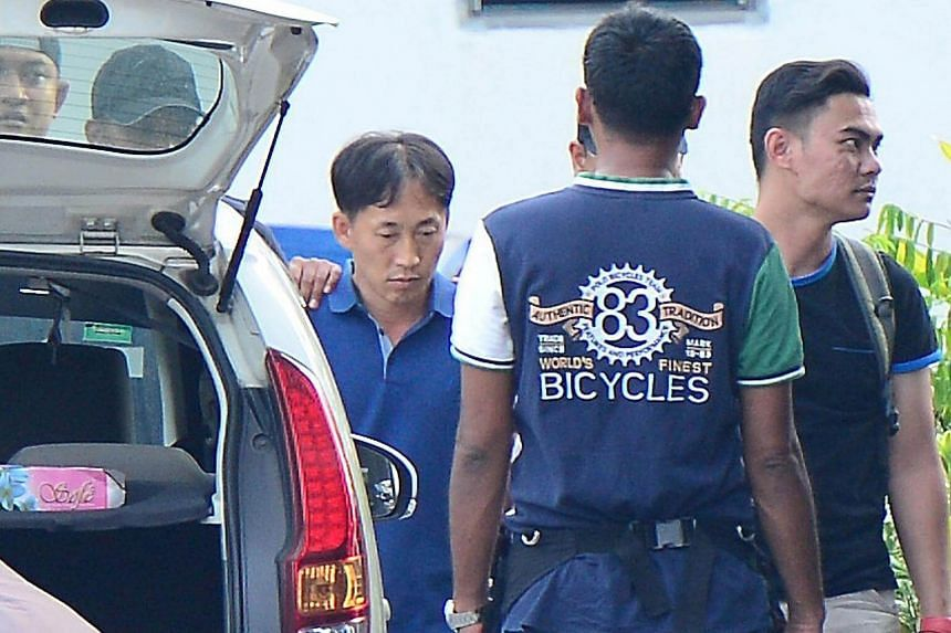A North Korean man identified by the Malaysian police as Ri Jong Chol is taken to a police station in Sepang, Malaysia, on Feb 18, 2017.