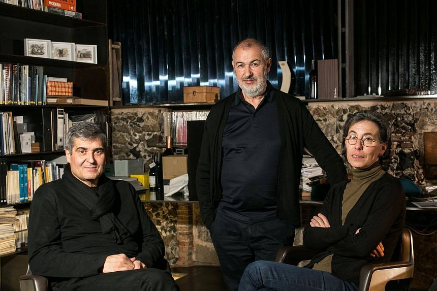 Spanish architects (from left) Rafael Aranda, Ramon Vialta and Carme Pigem became the first team of three to be selected for the Pritzker Prize.