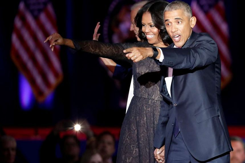 Mr Barack Obama and his wife Michelle plan to donate part of their advances to charity.