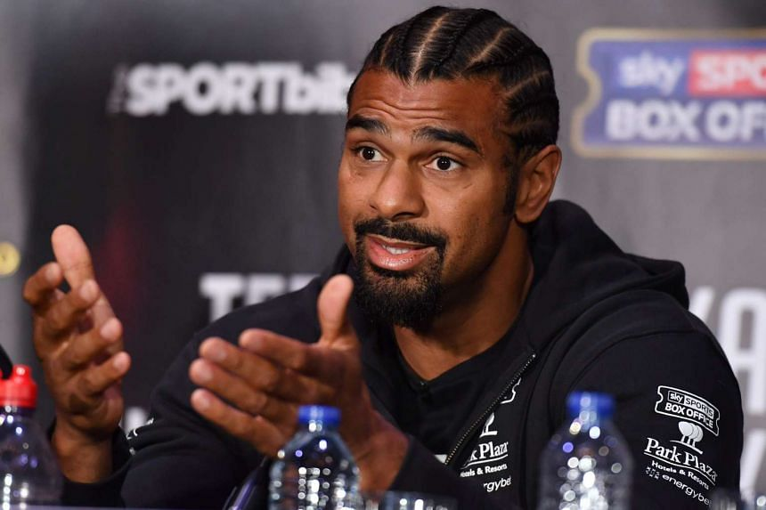 British boxer David Haye speaks during a press conference in east London on March 2, 2017.