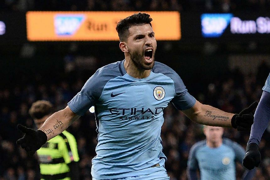 Manchester City striker Sergio Aguero is the club's top scorer with 22 goals in 30 appearances this season.