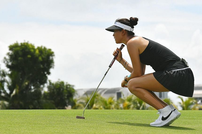 It was a fruitful day on the Sentosa Golf Club greens yesterday for American star Michelle Wie, as she rolled in eight birdies and shot a six-under-par 66 on the opening day of the HSBC Women's Champions tournament. The 27-year-old world No. 179 lead