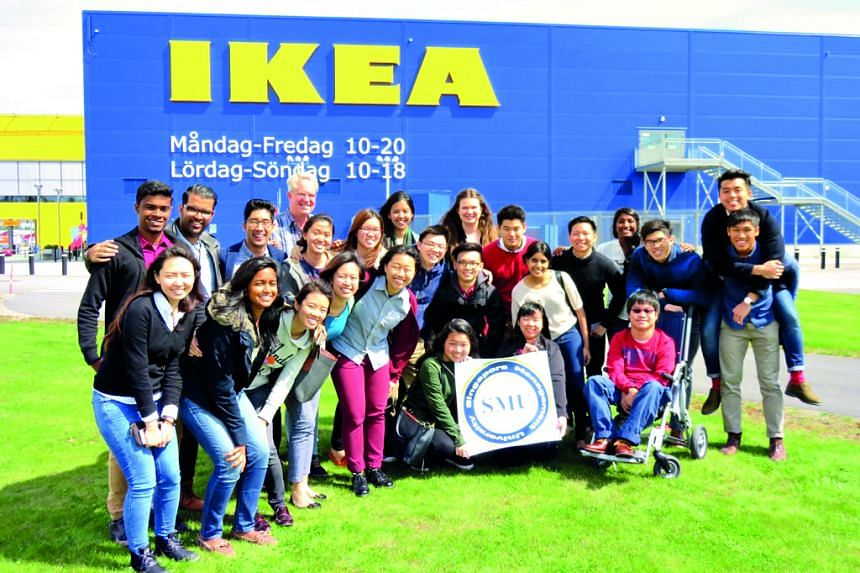 An SMU business study mission to Scandinavia included a visit to Ikea.