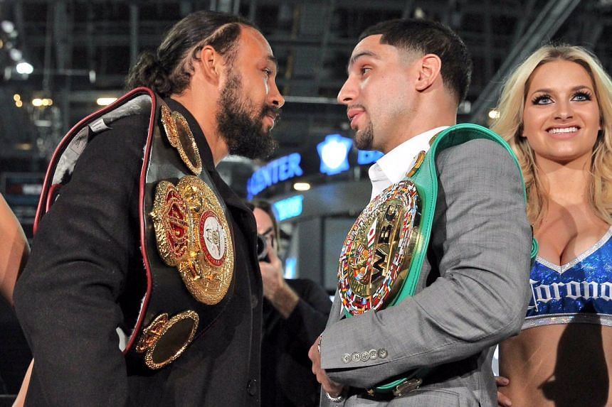 World Boxing Association champion Thurman, 27-0 with 22 knockouts, and World Boxing Council champion Garcia, 33-0 with 19 knockouts, are stars of the 147-pound division.