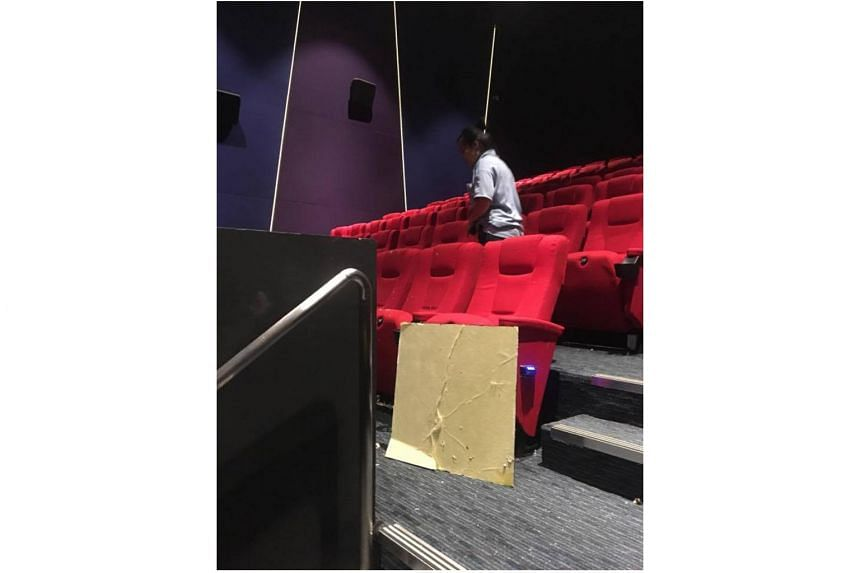 A ceiling fell in the middle of the movie screening of Logan at WE Cinemas in Clementi on March 3, 2016.