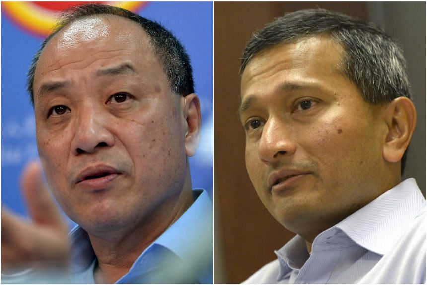 Workers' Party chief Low Thia Khiang and Foreign Minister Vivian Balakrishnan.