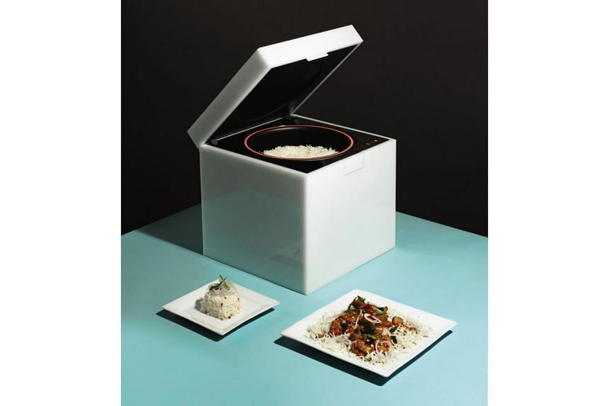 Rice Cube, a cuboid rice cooker, is one of the key highlights at the Singapore Design Week.
