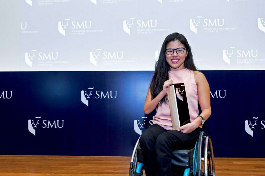 SMU's first full sports scholarship Yip Pin Xiu Scholarship honours excellent qualities exemplified by the Paralympics gold medallist and SMU student.