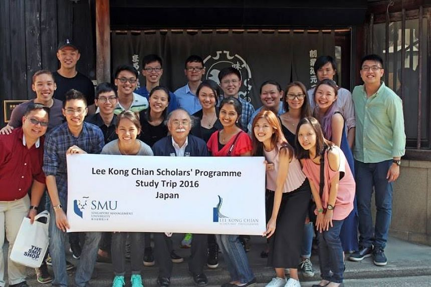 SMU's Lee Kong Chian Scholars on a study trip to Japan