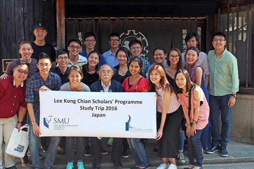 SMU's Lee Kong Chian Scholars on a study trip to Japan