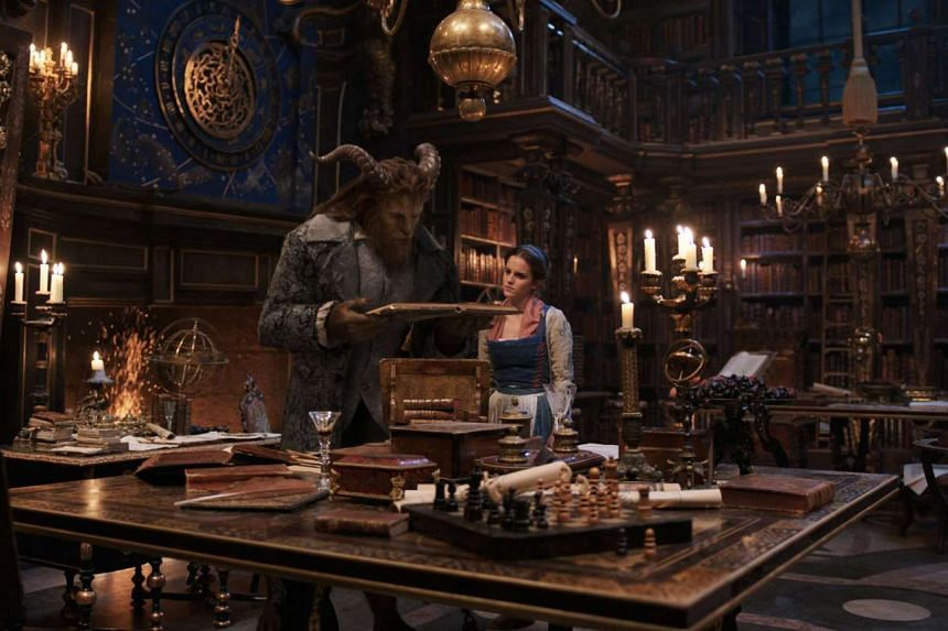 Cinema still: Beauty And The Beast starring Emma Watson as Belle and Dan Stevens as the Beast.