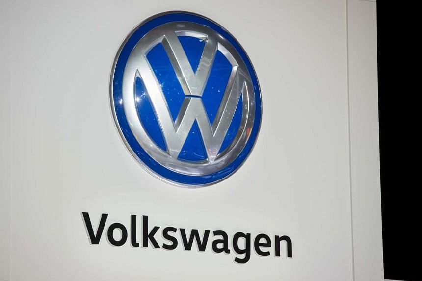 The Volkswagen logo is seen during the 2017 North American International Auto Show in Detroit, Michigan, Jan 9, 2017.