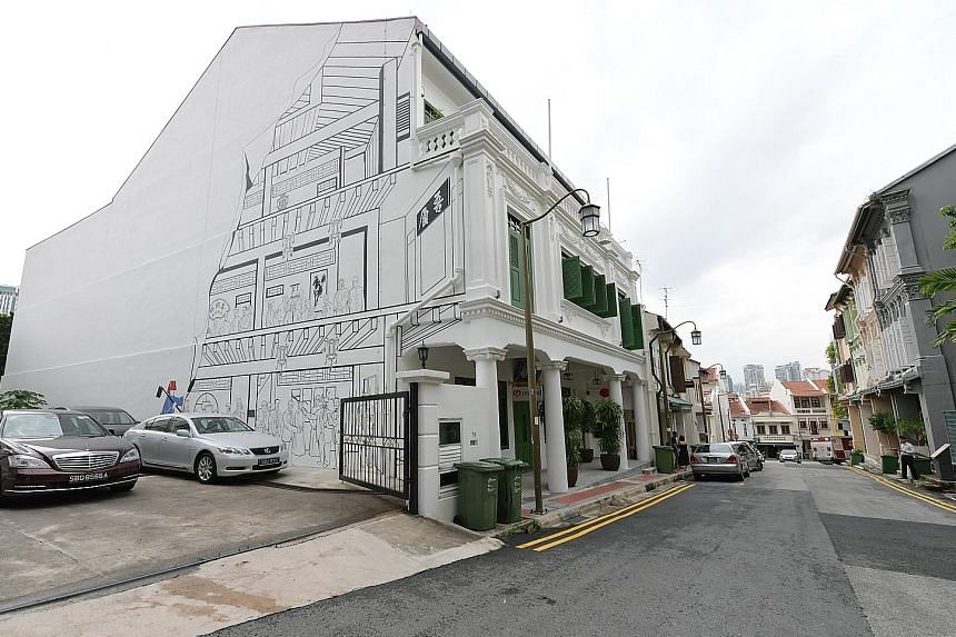 Mural painting on facade