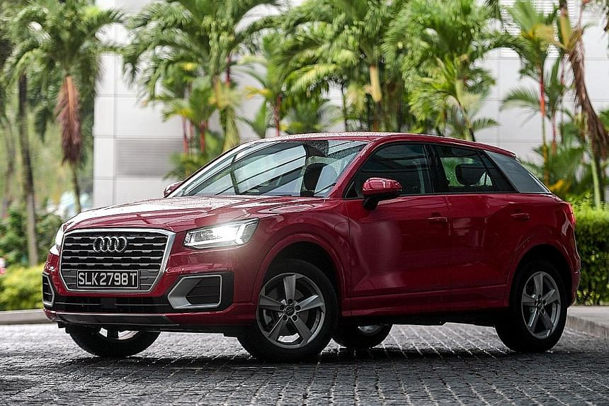 The Audi Q2 has a 1.4-litre turbo engine with cylinder cut-off, which allows the car to conserve fuel and reduce emissions.