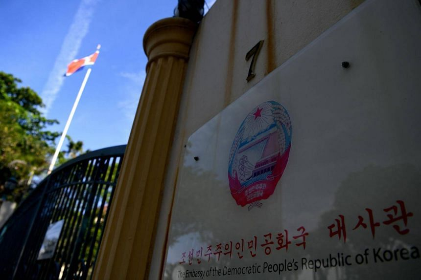 File photo of the North Korean embassy in Kuala Lumpur. Malaysia on Saturday (March 4) rejected claims that it may have violated sanctions imposed by the United Nations on North Korea.