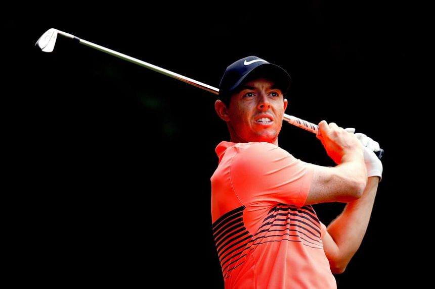Rory McIlroy plays his tee shot on the 11th hole during the third round of the World Golf Championships Mexico Championship at Club De Golf Chapultepec on March 4, 2017.
