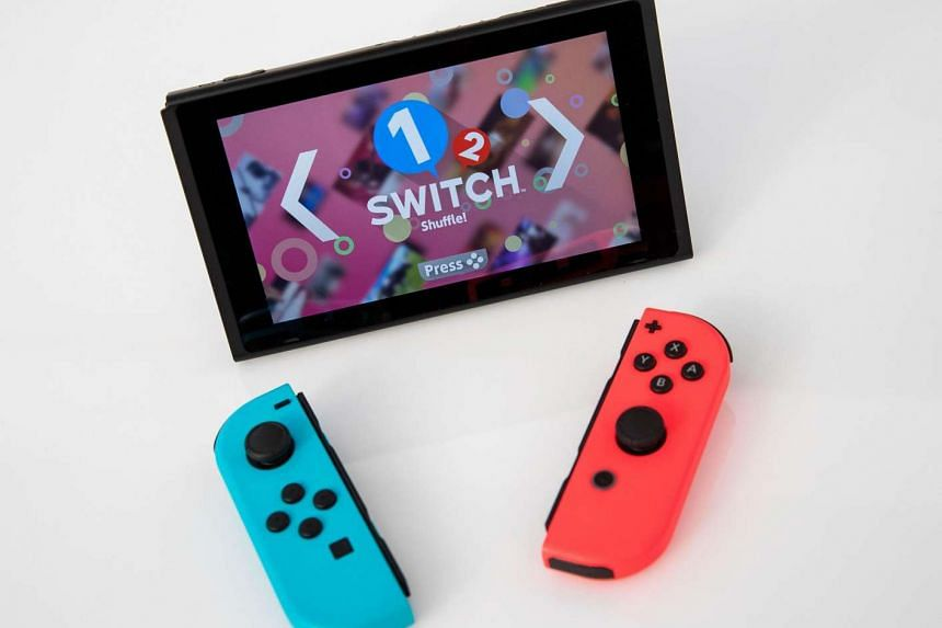The new Nintendo Switch game console. The cartridges were made to taste bitter to stop children from swallowing them.