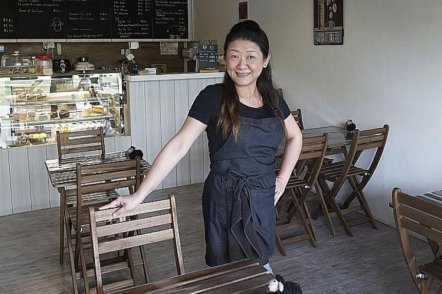 Madam Tan gets just one or two walk-in customers on some days at her cafe in Space @ Kovan. Only about a quarter of the 56 retail spaces at the strata-titled mall have been leased out, nearly two years after it opened.