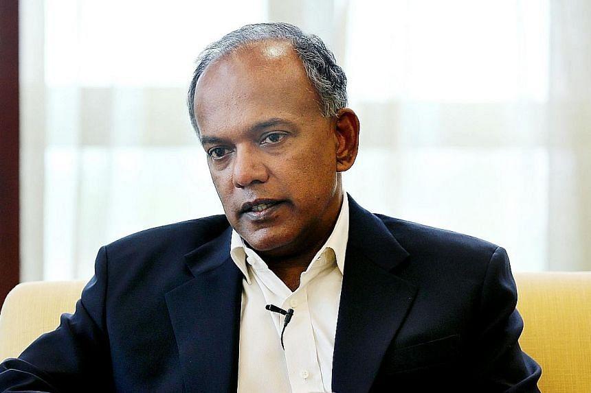 Home Affairs and Law Minister K. Shanmugam