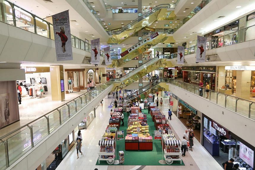 An interior view of The Centrepoint mall.
