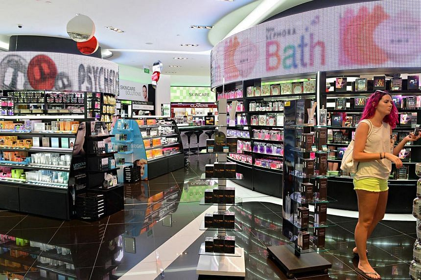 The flagship store of the cosmetic label Sephora, at Ion Orchard.