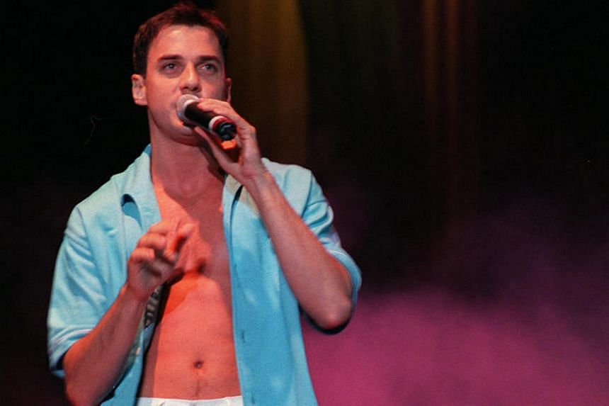 Tommy Page, heart-throb singer of the early 90s, when he performed at the National Day '97 Padang Party in Singapore in 1997.