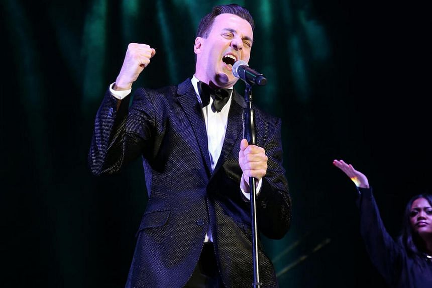 Tommy Page, heart-throb singer of the early 90s, when he performed at  the Retrolicious 2015 concert in Singapore in 2015.