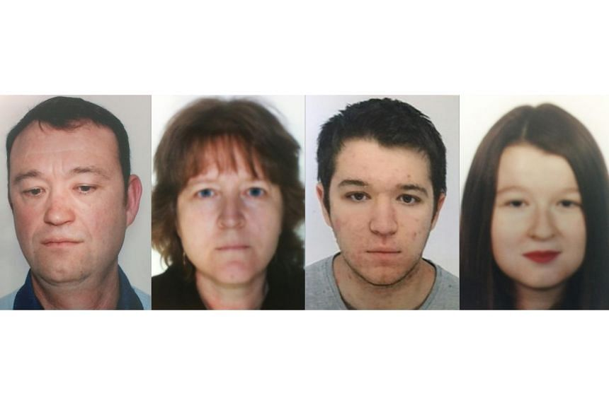 The four members of the Troadec family (left to right) Pascal, Brigitte, Sebastien and Charlotte, who have not been seen since Feb 16, 2017.
