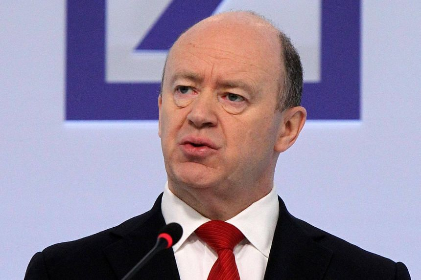John Cryan, chairman of German bank Deutsche Bank, addresses journalists during his company's annual press conference on Feb 2, 2017.