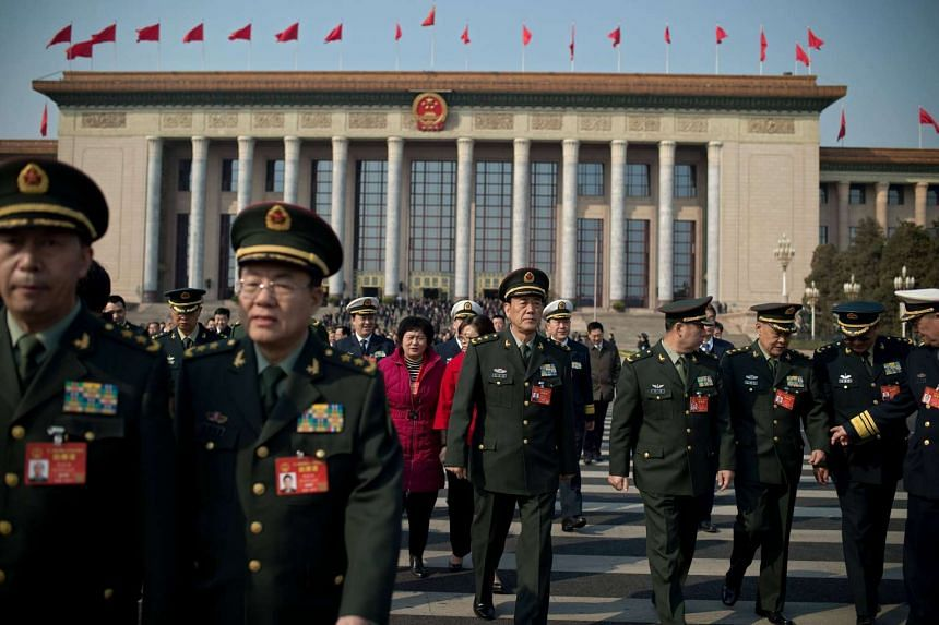 China plans to raise defence spending by seven per cent to 1.044 trillion yuan (S$213.3 billion) in 2017.