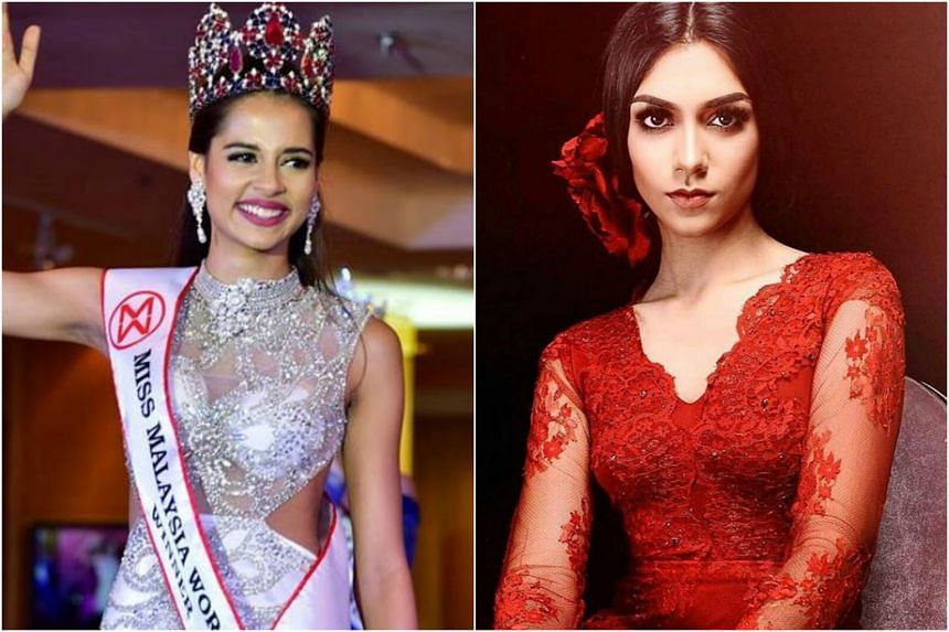 Miss Malaysia World has revoked the title of the current holder Tatiana Kumar Nandha (left). First runner-up Shweta Sekhon (right) has been named the new title holder.