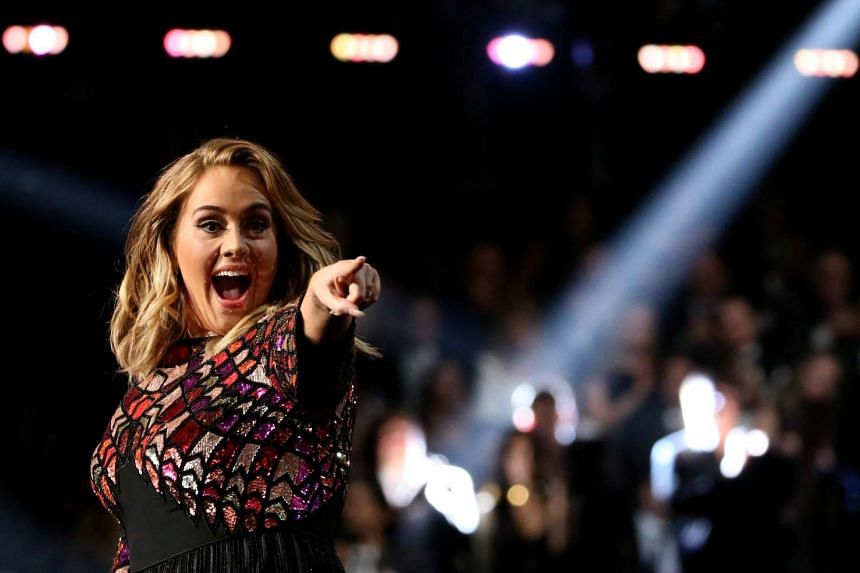 Adele sings Hello at the 59th Annual Grammy Awards on Feb 12, 2017.