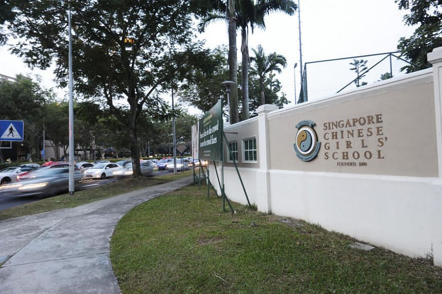 Singapore Chinese Girls' School is one of 27 secondary schools with affiliated primary schools that will be affected by MOE's announcement on March 7, 2017, that 20 per cent of places are to be set aside for students who do not benefit from affiliati