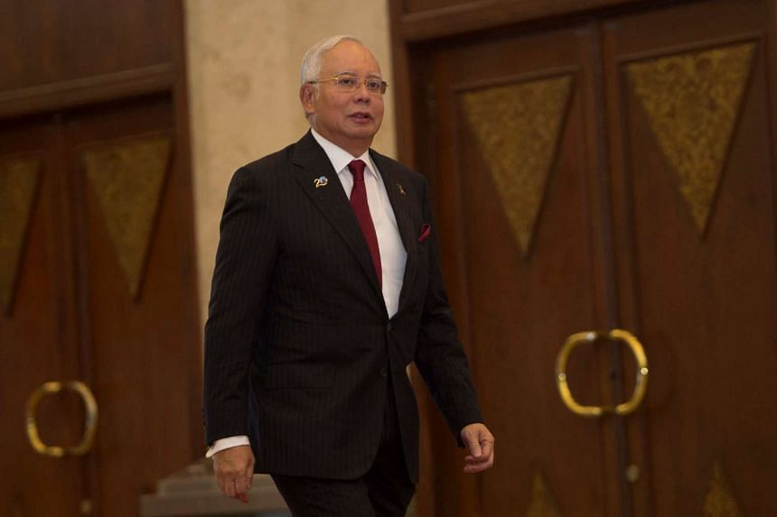 Malaysian Prime Minister Najib Razak arrives at the Indian Ocean Rim Association (IORA) Summit in Jakarta.