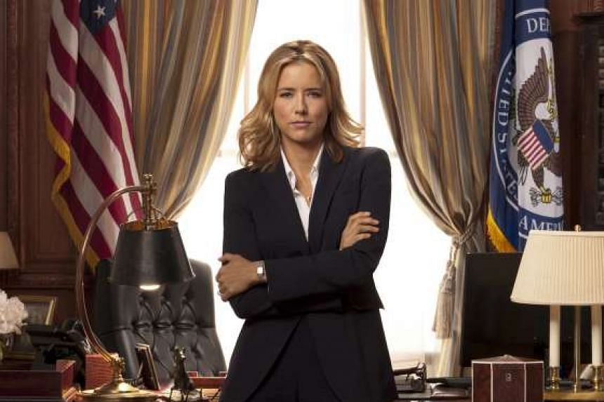 The Philippines has criticised US TV show Madam Secretary for showing the Philippine President making sexual advances on the US Secretary of State (played by Tea Leoni, pictured).