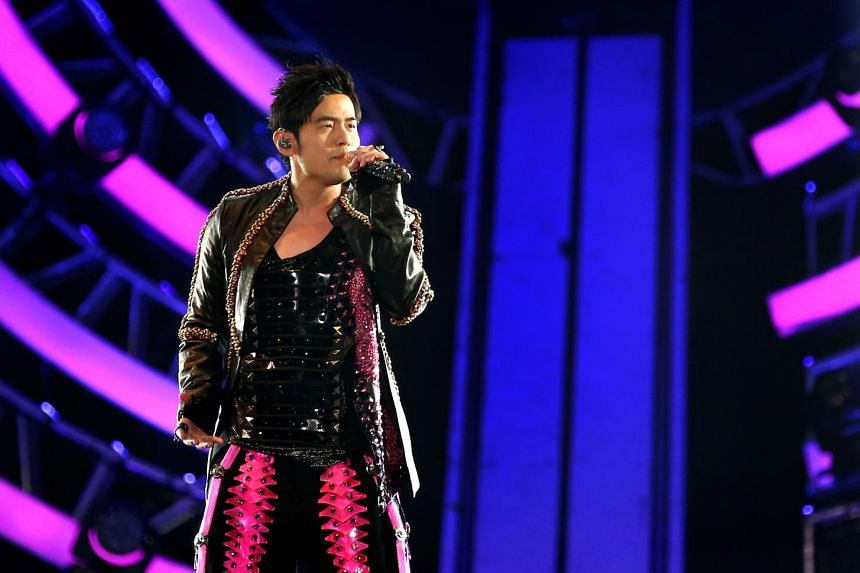 Taiwanese superstar Jay Chou performing during his The Invincible Jay Chou Concert Tour, at the National Stadium, on Sept 3, 2016.