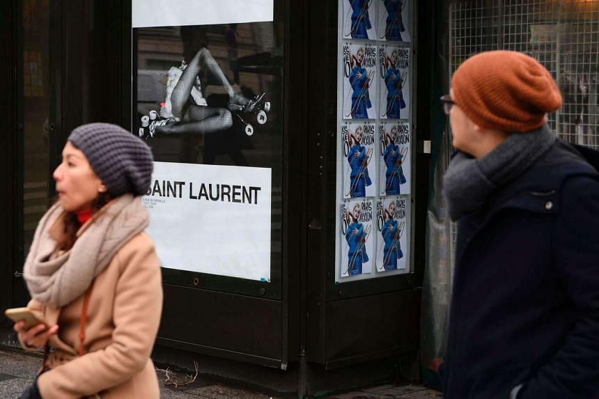"""A new publicity campaign featuring painfully thin models in """"degrading"""" poses for the French fashion house Yves Saint Laurent sparked outrage on March 6, with calls for it to be banned."""