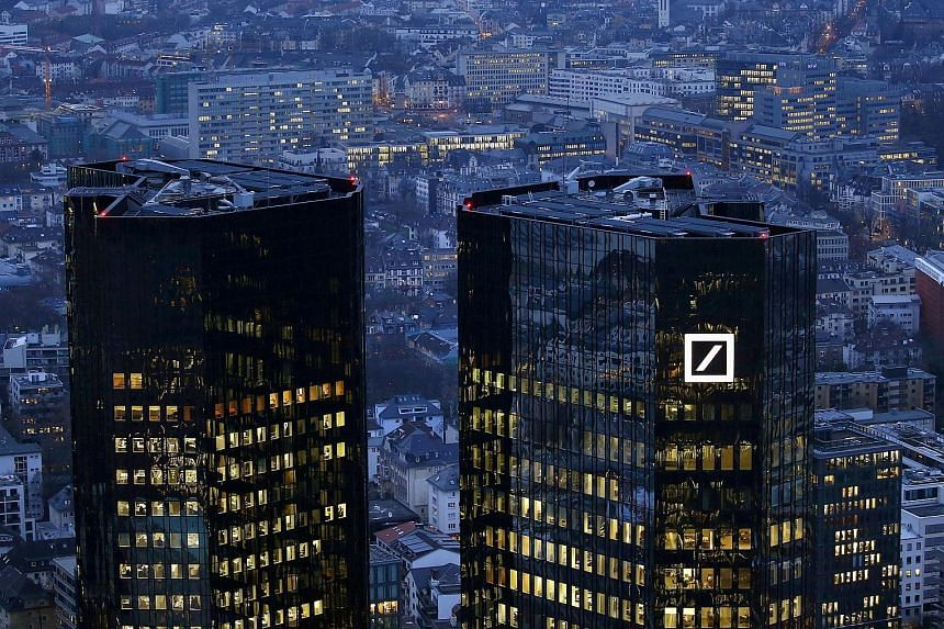Deutsche Bank's headquarters in Frankfurt, Germany. The firm is pivoting away from hedge funds and other financial firms.