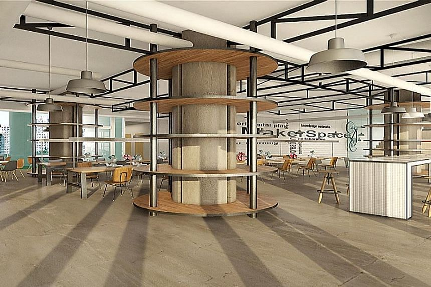 """The Tampines Regional Library will have """"a space for makers"""" with 3D printers as well as collaborative work spaces where budding entrepreneurs can learn from one another."""