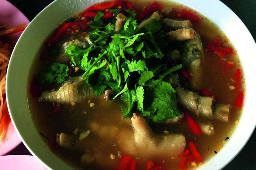 Thai chicken feet soup from Laab Udon.