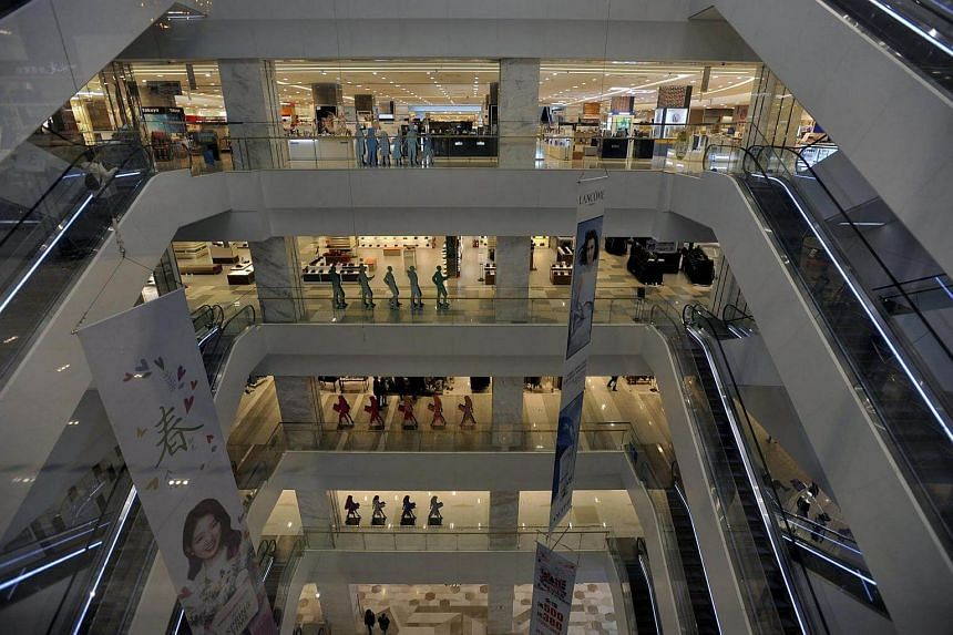 A view of the empty Lotte Department Store in Shenyang in northeast China's Liaoning province.