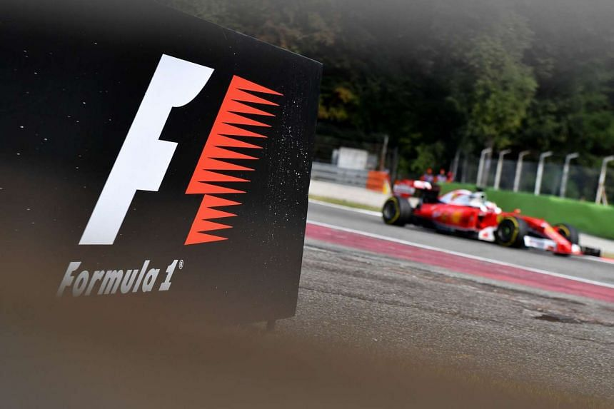 The Formula One logo pictured during the second practice session at the Autodromo Nazionale circuit in Monza ahead of the 2016 Italian Formula One Grand Prix.