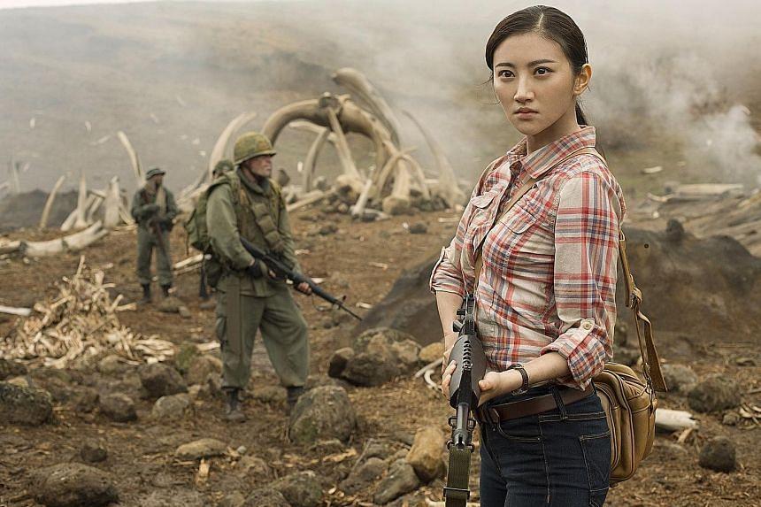 Kong: Skull Island's director Jordan Vogt-Roberts and actress Jing Tian (above).