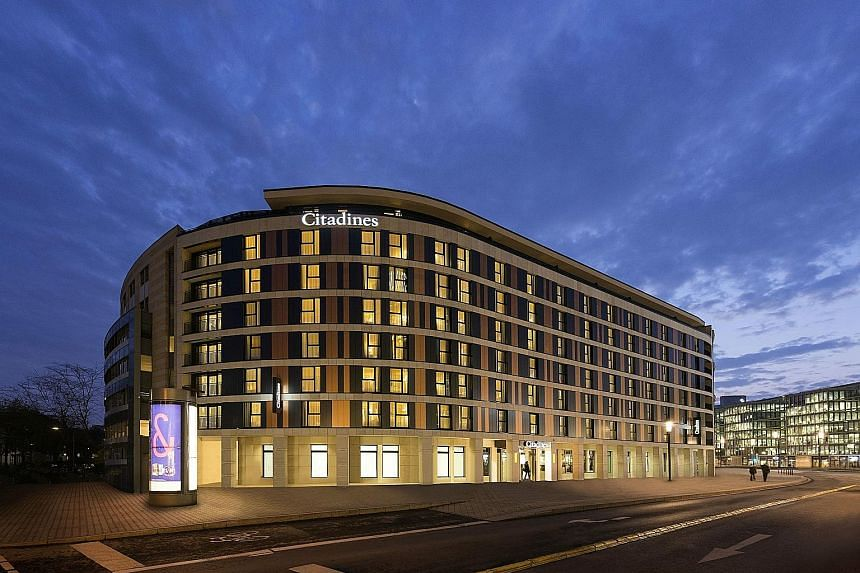 Ascott Reit plans to buy Citadines City Centre Frankfurt (above) and Citadines Michel Hamburg (left), as well as Ascott Orchard Singapore (below). The deal will mark its first foray into Frankfurt while expanding its presence in both the Hamburg and