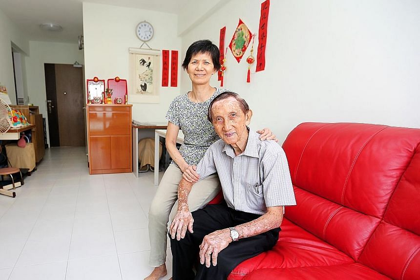 Mr Sin and his wife, Madam Chan, were fortunate not to have to take out another loan when they downsized to a two-room flat.