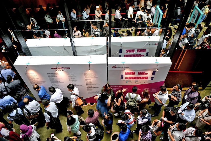 More than 2,300 positions from more than 40 employers are available at a career fair at Changi Airport, ahead of the opening of Terminal 4 later this year (2017).