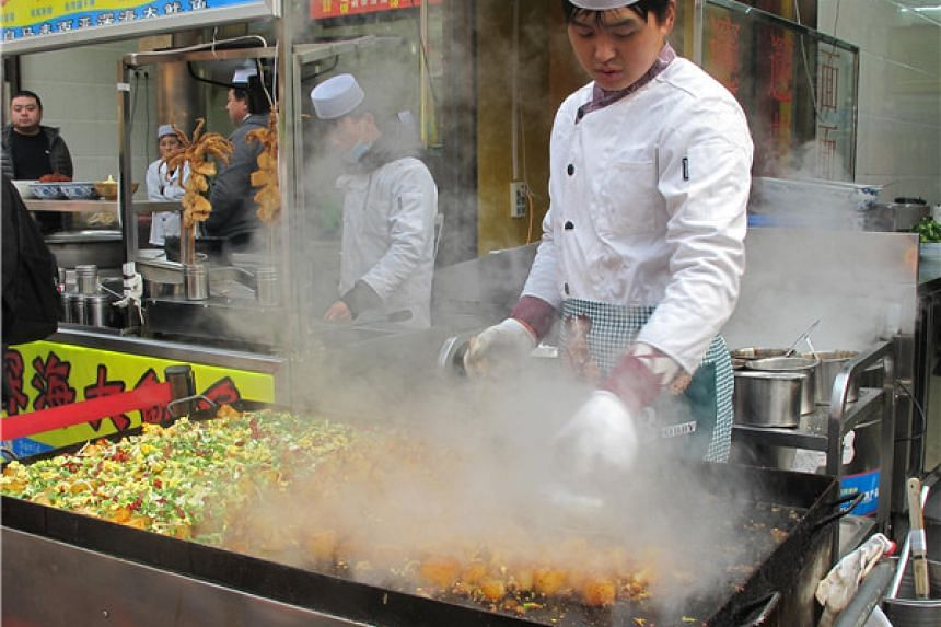 Street food in Xi'an highlights Silk Road flavours.